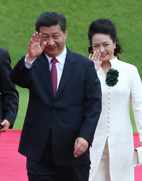 2014년 7월 국빈 방한 당시 시진핑 중국 국가주석 부부. [청와대사진기자단]