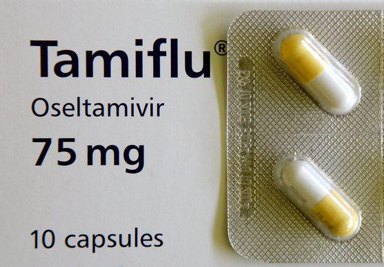 항바이러스제 오셀타미비르(Oseltamivir)가 함유된 인플루엔자 치료제 타미플루. [중앙포토]