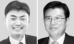 박성진(左), 김덕룡(右)