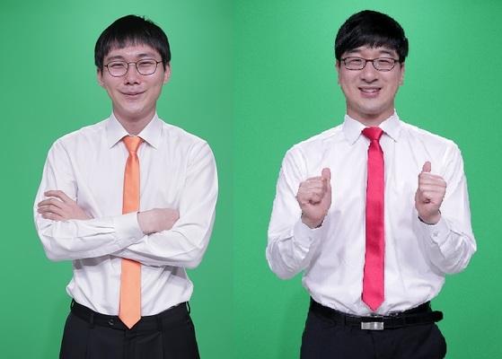 박정환(왼쪽) 9단과 박영훈 9단 [사진 한국기원]
