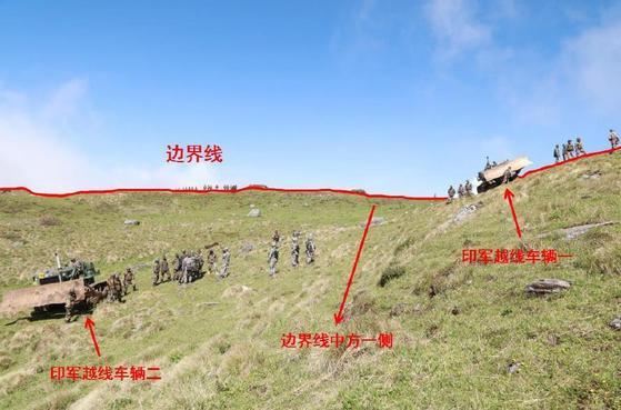 지난 6월 16일 중국 티베트-인도 시킴-부탄 3개국 국경선이 만나는 둥랑 지역에서 중국군의 도로 건설을 이유로 분쟁이 시작됐다. 사진은 둥랑 지역. [사진 중국 외교부 홈페이지]
