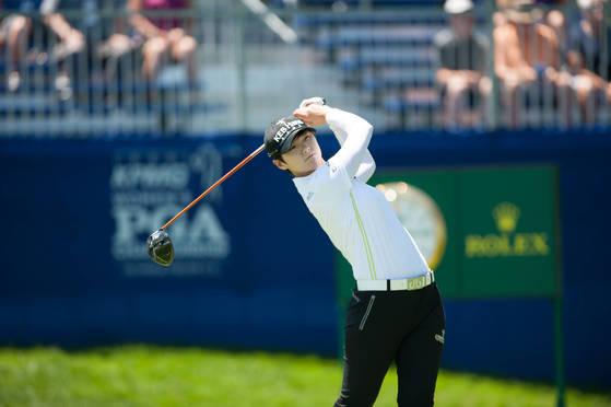 박성현이 미국 LPGA 투어 캐나다 퍼시픽 여자오픈에서 우승을 차지했다. [중앙포토]