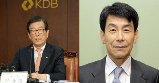 이동걸 현 산업은행장(왼쪽), 이동걸 동국대학교 경영대 초빙교수(오른쪽)