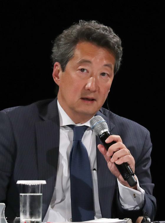 지난 6월 26일 서울에서 열린 중앙일보-CSIS 포럼에서 빅터 차 CSIS 한국석좌가 발언하고 있다.
