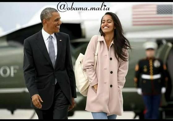 버락 오바마 대통령과 장녀 말리아[말리아 인스타그램]