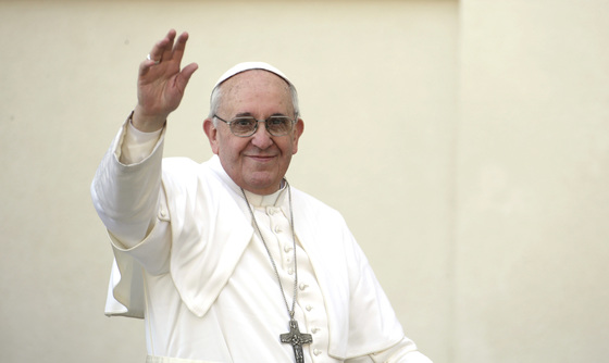 프란치스코 교황은 한국 종교지도자들을 만나 남북 문제와 관련해 화해와 평화의 메시지를 던졌다. [중앙포토]