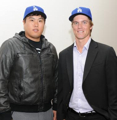 LA 다저스 시절 함께 한 류현진과 그레인키. [로베르토 발리 블로그]