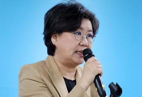 바른정당 이혜훈 대표가 23일 열린 의원·원외위원장 연석회의에서 발언하고 있다. [연합뉴스]
