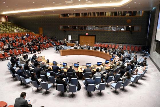 유엔 안보리 회의 전경.[사진 유엔 홈페이지]
