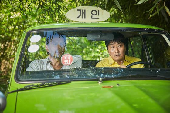 80년 광주를 두 이방인의 시선으로 그린 '택시운전사'. 두 주역 토마스 크레취만과 송강호.  [사진제공=쇼박스]