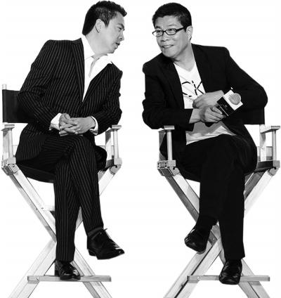 동생 왕중레이, 형 왕중쥔(오른쪽). 이들은 중국 최고의 엔터테인먼트 겸 문화기업인 화이브라더스를 일궈냈다. [출처: 바이두 백과]