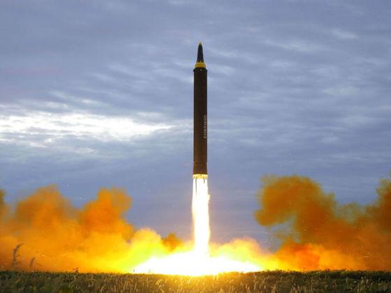 지난달 30일 북한의 마사일 발사 모습 [중앙포토]