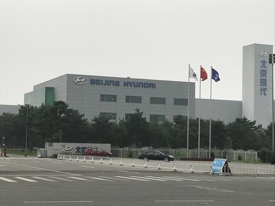 중국 베이징에 있는 베이징현대차 공장. [중앙포토]