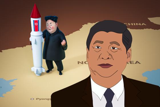 김정은과 시진핑[출처 셔터스톡]