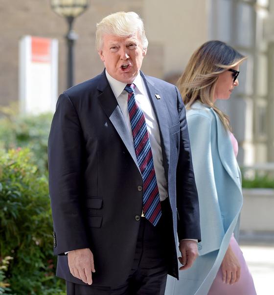 미국 대통령 도널드 트럼프와 그의 배우자 멜라니아 트럼프. [중앙포토]