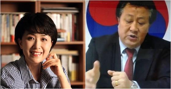 정미홍씨(왼쪽)와 김태산씨. [사진 페이스북]