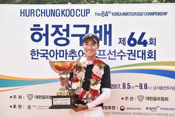 허정구배 한국아마추어골프대회에서 우승한 김한별. [사진 대한골프협회]