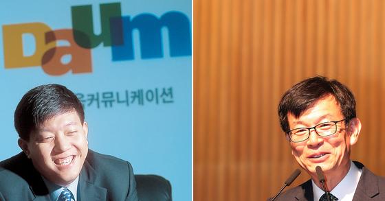 이재웅 다음 창업자(왼쪽)와 김상조 공정거래위원장. [중앙포토]
