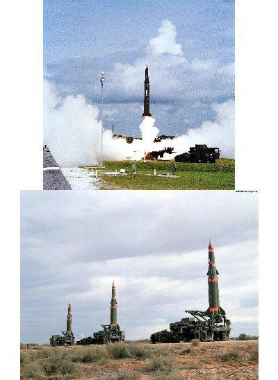 냉전 당시 서독에 배치됐던 미국의 퍼싱2 미사일. 핵탄두를 탑재할 수 있는 중거리 미사일이다.