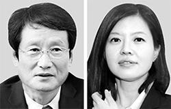 문성근(左), 김여진(右)