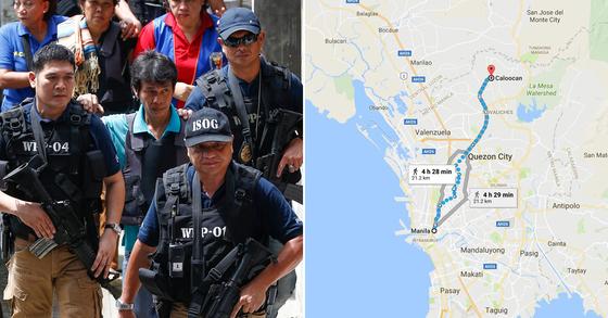 필리핀 경찰 자료사진. [EPA=연합뉴스]