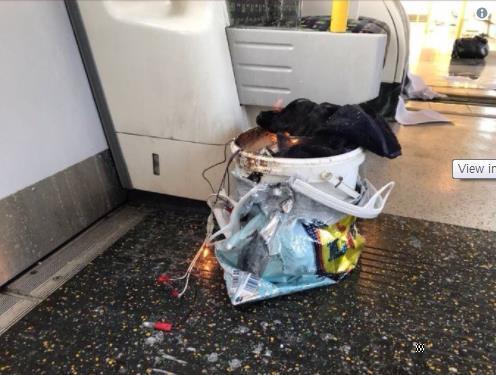 런던 경찰청이 밝힌 사제 폭발물로 추정되는 물체. [AP=연합뉴스]