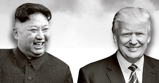 김정은(左), 트럼프(右). [중앙포토]