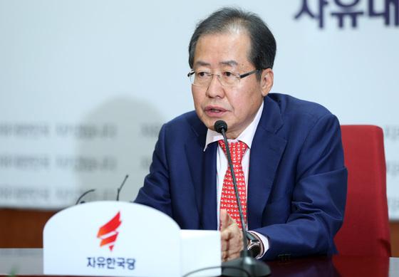 홍준표 자유한국당 대표. 박종근 기자