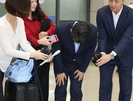 남경필 급거 귀국. [연합뉴스]