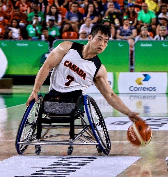 원유민은 지난해 리우 여름 패럴림픽에 캐나다 휠체어 농구 대표로 출전했다.[사진 원유민]
