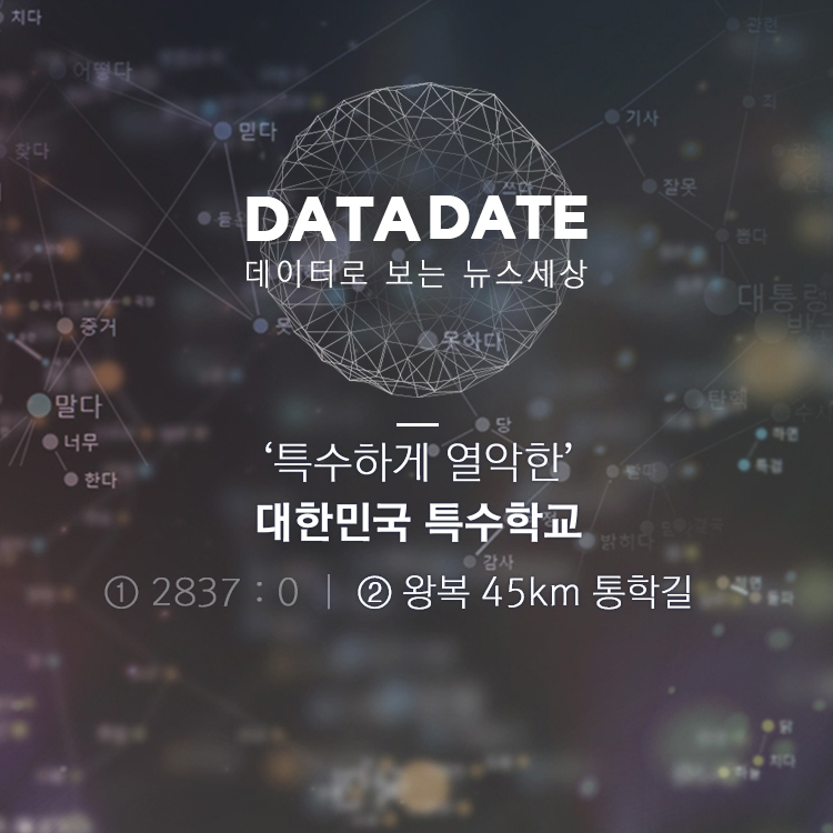 [데이터 데이트]② 왕복 3시간…특수학교 학생들 '등교 전쟁'