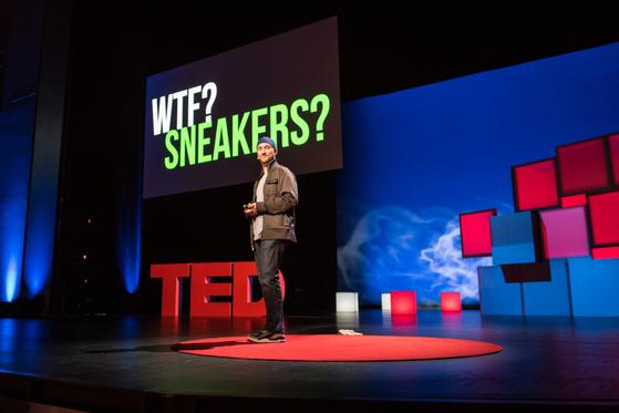 TED 행사에서 연사가 강연하는 모습.                             [TED 홈페이지]