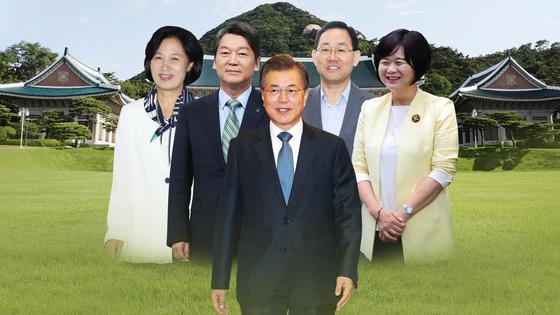 문재인 대통령과 여·야 4당 대표의 만찬 회동이 성사됐다. 정치권의 관심은 청와대 회동에서 어떤 대화가 오갈지에 쏠리고 있다. [연합뉴스]