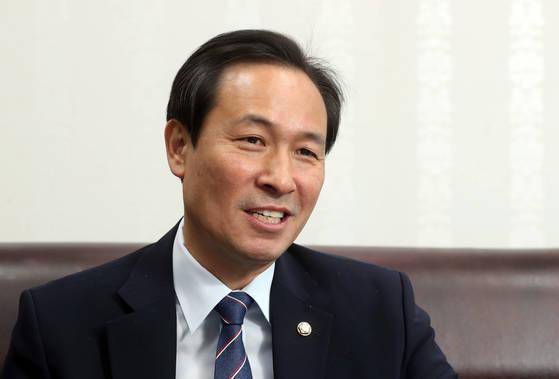 우상호 전 더불어민주당 원내대표. 강정현 기자