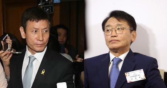 왼쪽부터 김시곤 전 KBS 보도국장, 고대영 KBS 사장. [연합뉴스]