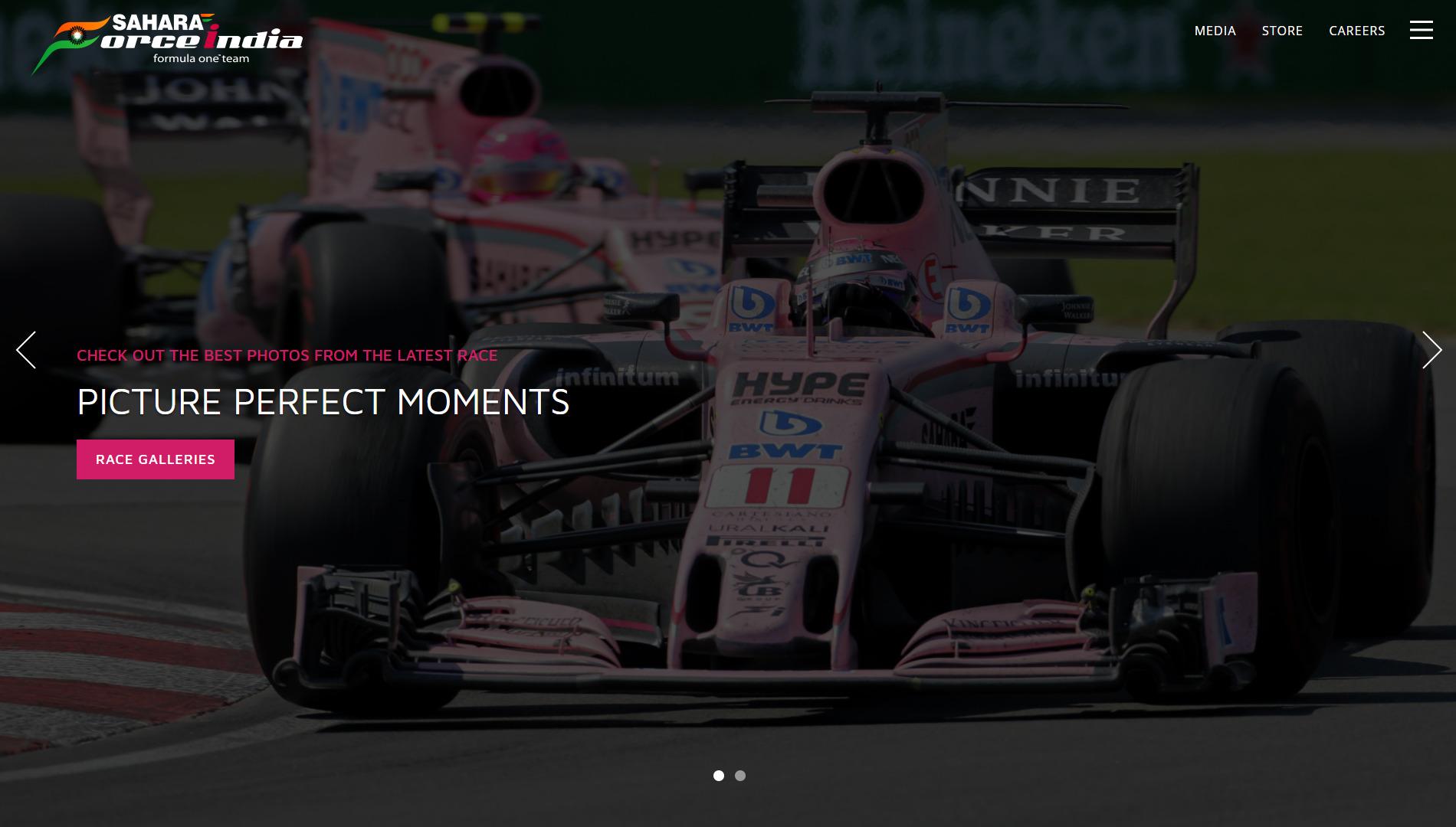 [사진 사하라 포스 인디아 F1 홈페이지]