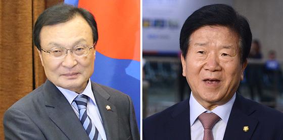 이해찬(左), 박병석(右)