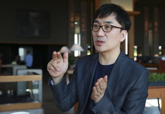 강정수 메디아트 대표 인터뷰가 20일 서울 용산구 그랜드하얏트 호텔에서 열렸다. [임현동 기자]