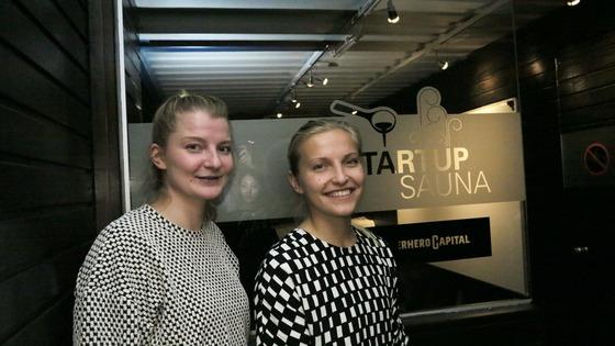 스타트업사우나 CEO 캐롤리나 밀러(왼쪽)와 슬러시 CEO 마리안네 비쿨라.
