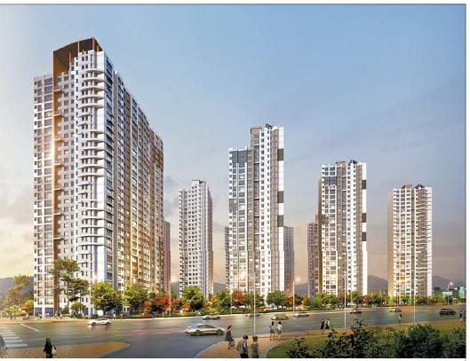새 아파트 대기수요가 많은 서울 중랑구에 선보이는 사가정 센트럴 아이파크 투시도. 단지는 지하철 7호선 사가정역 역세권에 위치해 강남까지 빠른 시간 안에 닿을 수 있어 실수요자들의 관심이 크다.