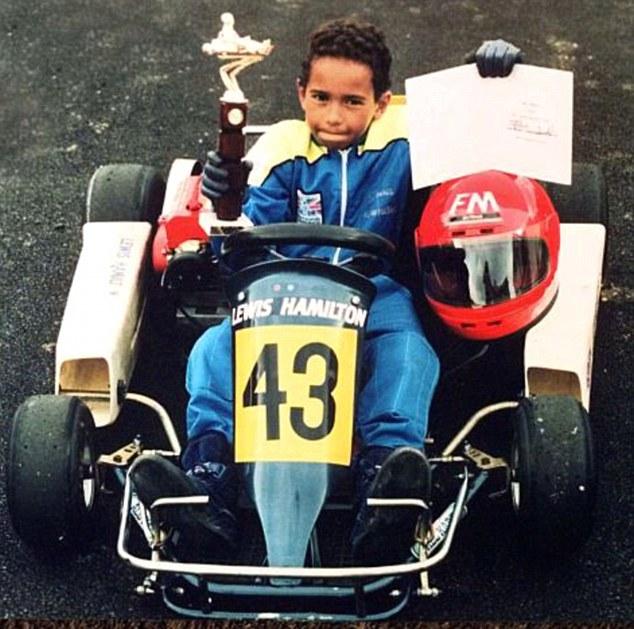 8살 나이에 카트 챔피언을 차지한 영국의 루이스 해밀턴 [사진 데일리 메일 홈페이지]