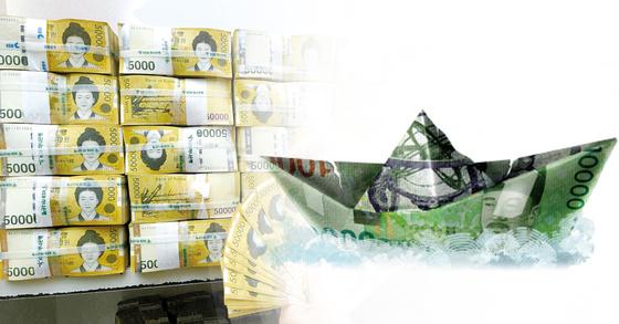 국민연금기금 누적 적립금이 올 7월 기준으로 600조원을 돌파한 것으로 집계됐다. [중앙포토]
