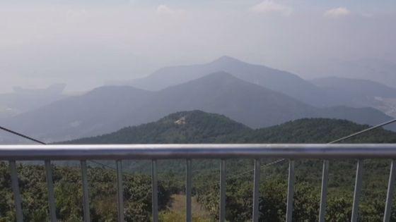 경남 하동군 금오산 정상에서 바라본 한려해상 국립공원 모습. 위성욱 기자