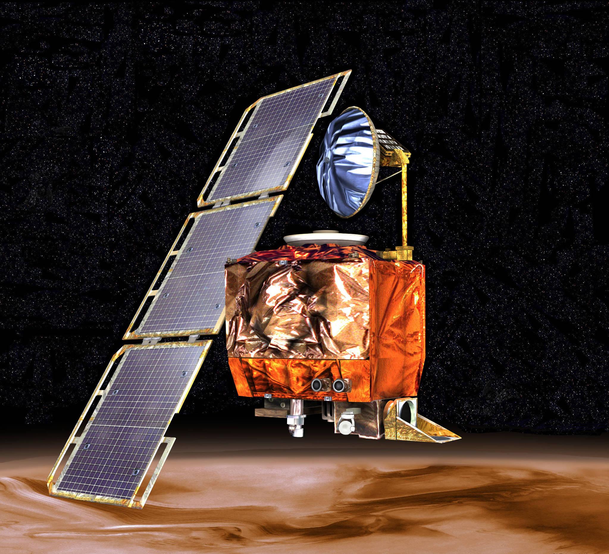 1999년 9월 화성에서 폭발로 사라진 기후궤도 탐사선(MCO) [사진 NASA]