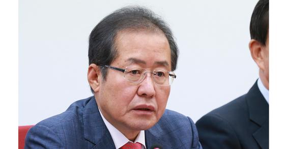 자유한국당 홍준표 대표. 임현동 기자
