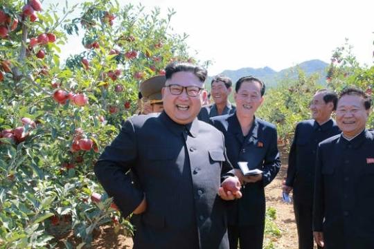 김정은 북한 노동당 위원장. [조선중앙통신]