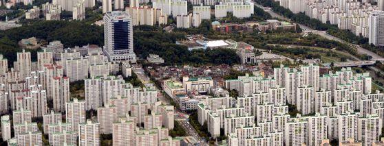 경기도 분당 일대 아파트 밀집지역 전경. [중앙포토]
