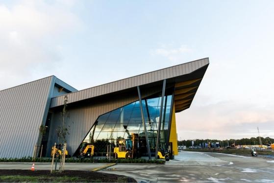 벨기에에 건립된 현대건설기계 유럽 신사옥. [사진 현대건설기계]
