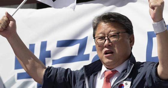 단식을 선언한 조원진 대한애국당 의원. [연합뉴스]