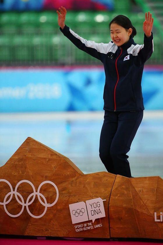 동계청소년올림픽 스피드스케이팅 500M 금메달 김민선. [사진=IOC페이스북]